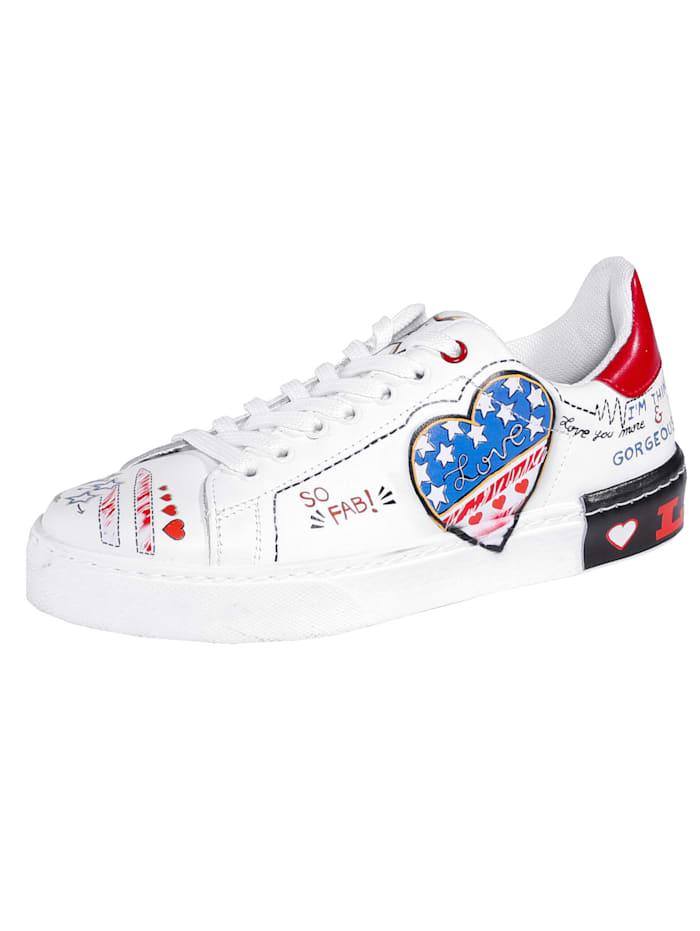 Sneaker aus modisch bedrucktem Nappaleder