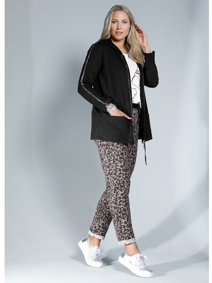 Jogpant met trendy animalprint
