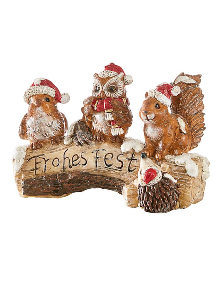Dekoration med juldjur, Flerfärgad