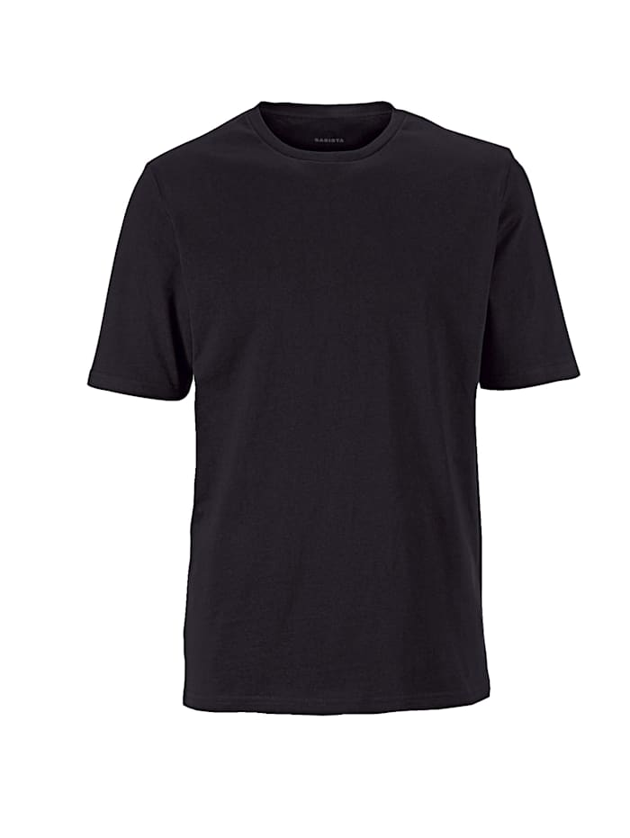 T-Shirts, 2er Pack mit Rundhals