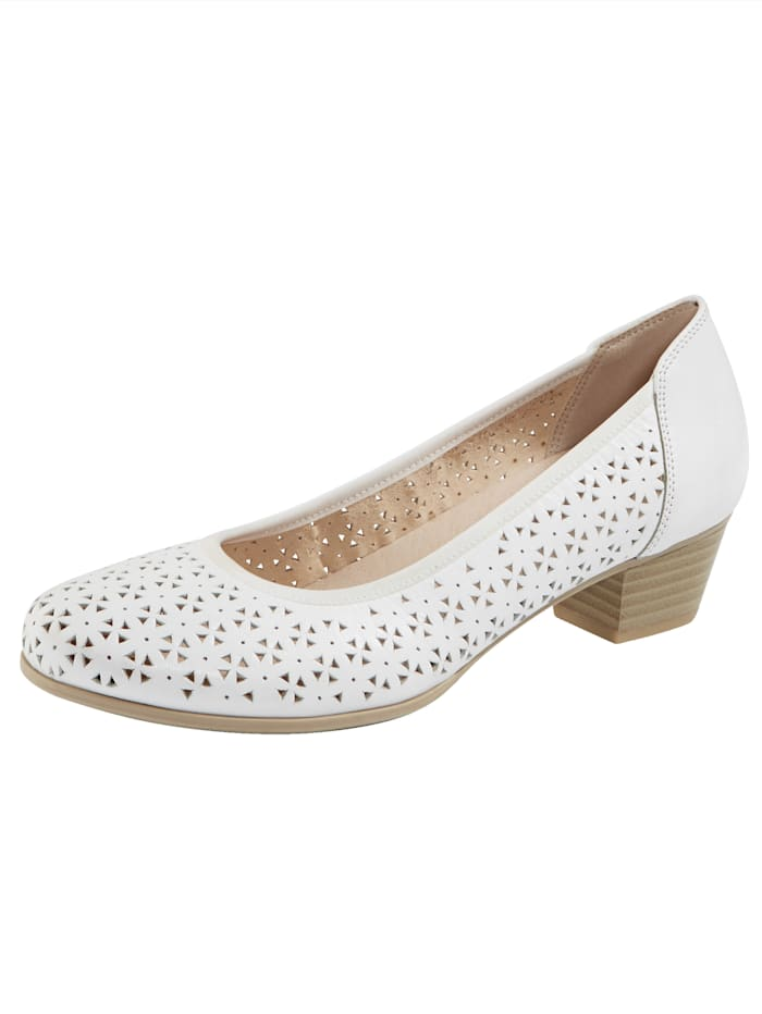 MONA Court shoes with cutout detailing, White