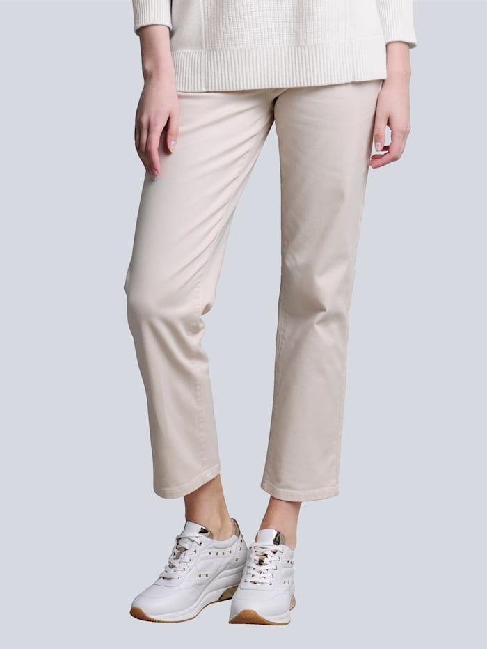 Alba Moda Jeans mit hoher Leibhöhe, Off-white