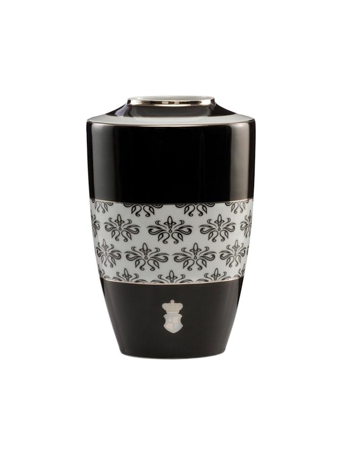Goebel Goebel Vase Maja von Hohenzollern - Design Floral, schwarz-weiß