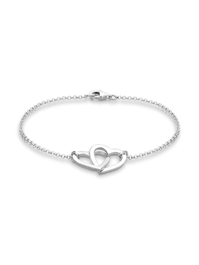 Elli Armband Herz Symbol Klassisch 925 Sterling Silber, Silber