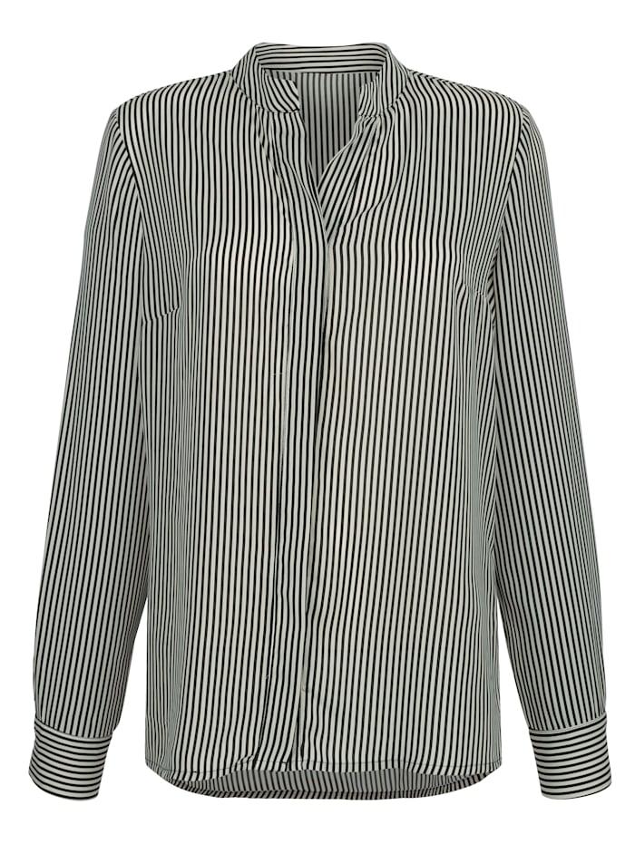 Bluse mit Streifen-Dessin