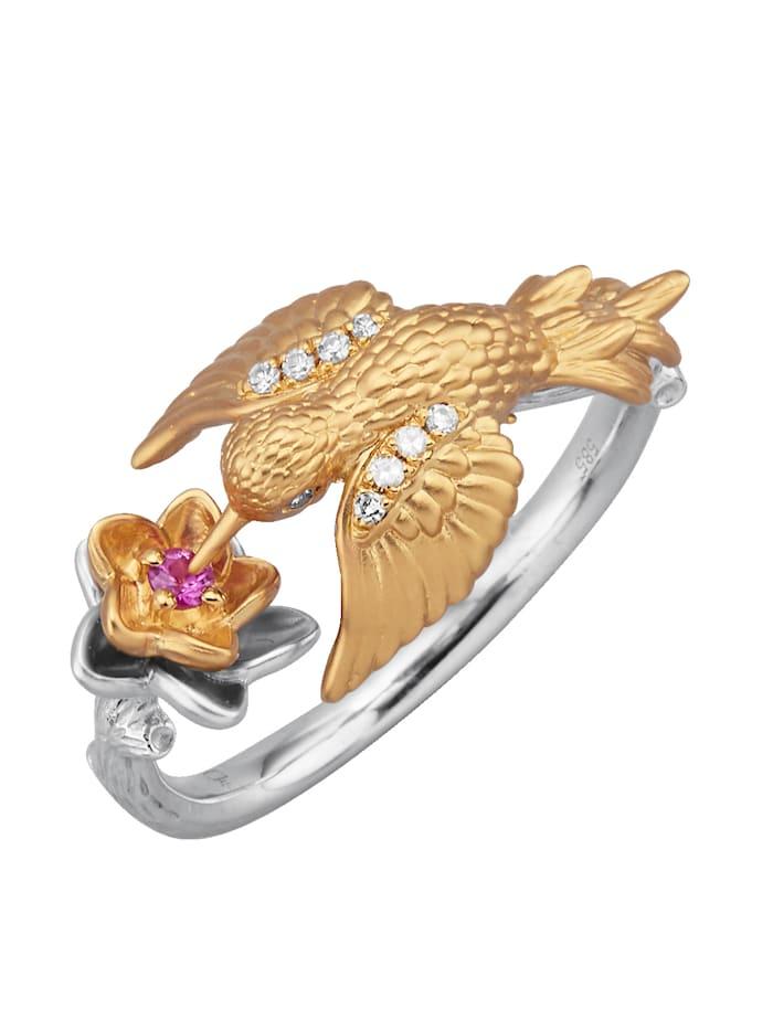Kolibri-Ring mit Diamanten