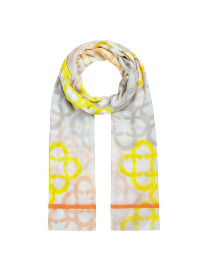 Codello Premium Logo-Schal aus Modal und Seide, beige