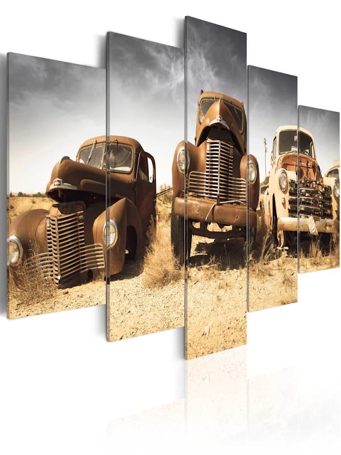 artgeist Wandbild Cars with soul, Creme,Grau,Weiß,Braun