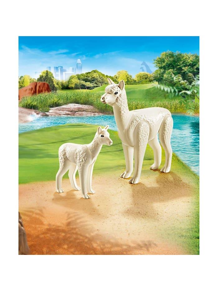 Konstruktionsspielzeug Alpaka mit Baby
