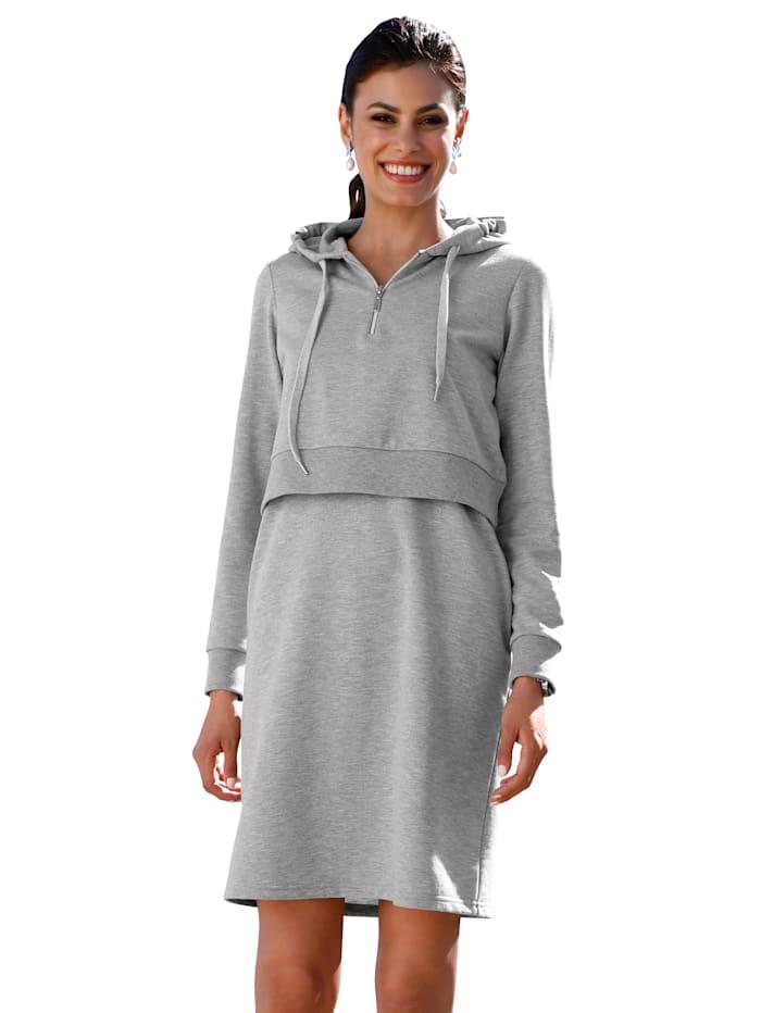AMY VERMONT Sweatkleid mit seitlichen Eingrifftaschen, Grau