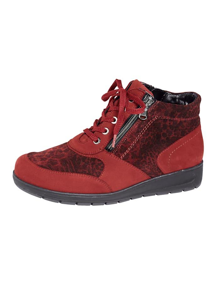 Waldläufer Schnürstiefelette mit Luftpolsterlaufsohle, Rot