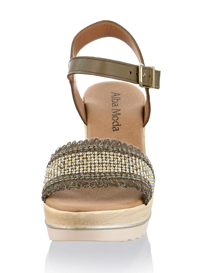 Sandalette mit angenehm tragbarem Keilabsatz