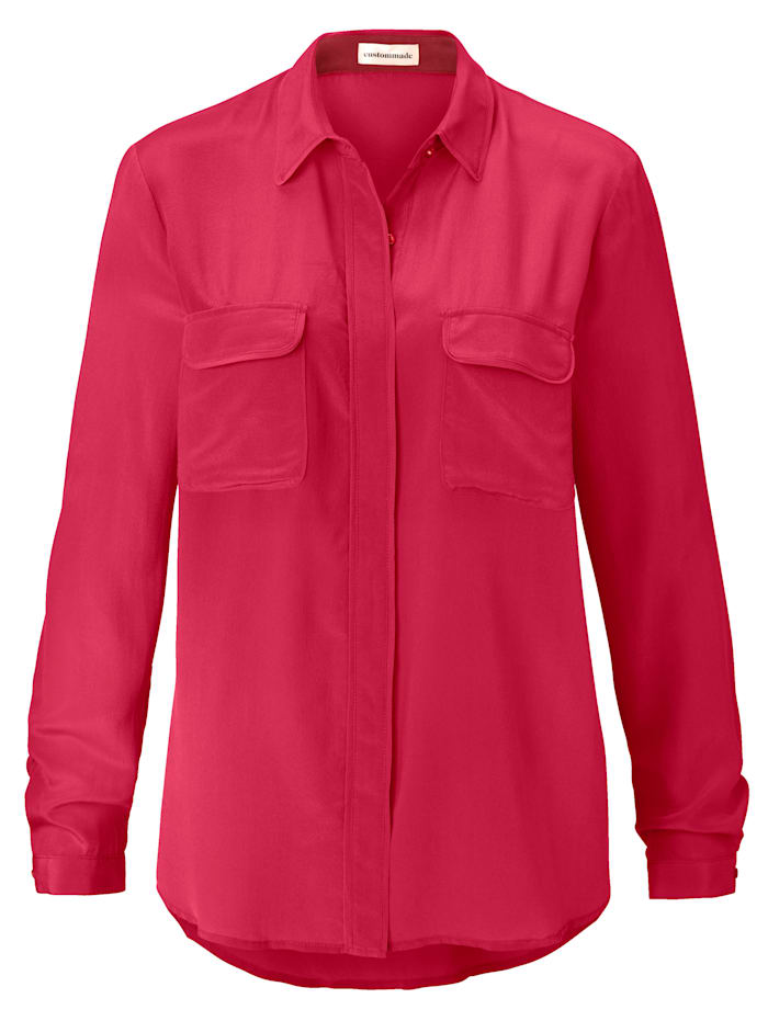 Custommade Seidenbluse, Pink