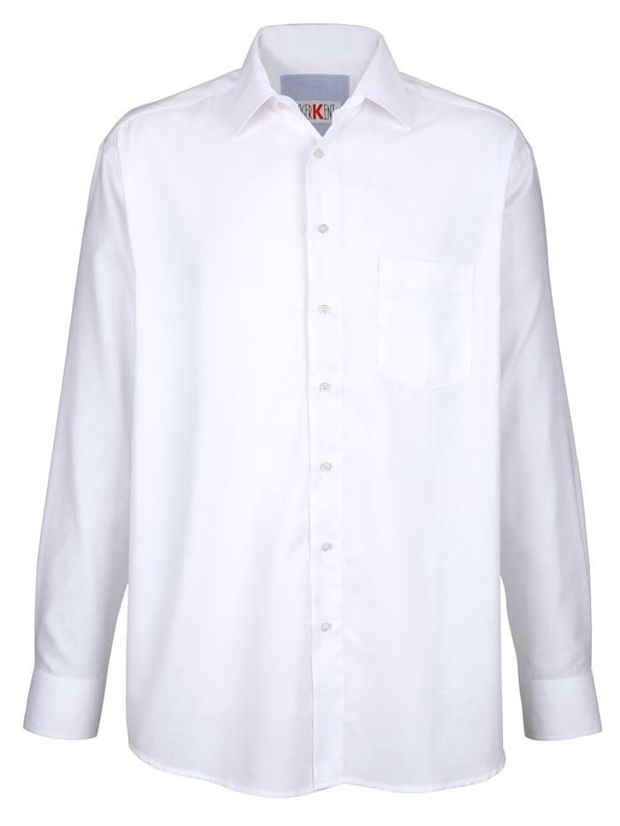 Roger Kent Skjorta i strykfritt material, Vit