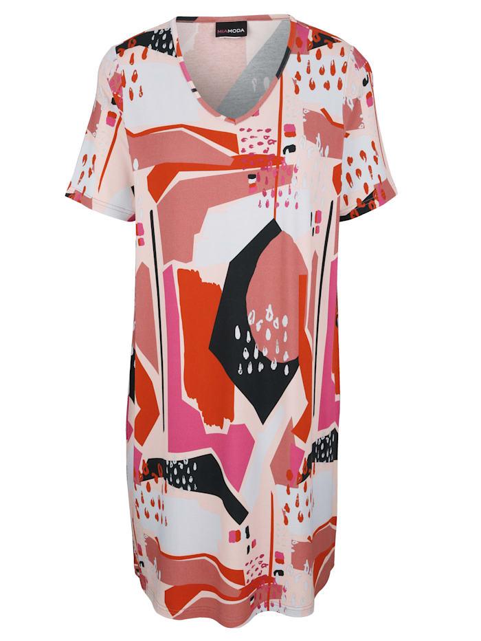 MIAMODA Šaty v tričkovej kvalite, Multicolor
