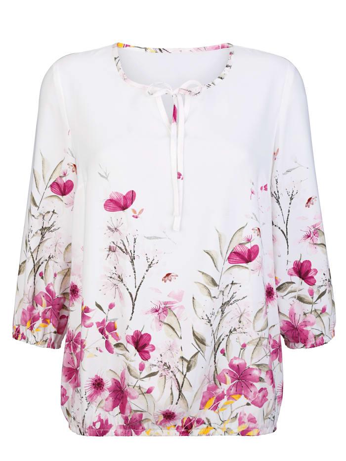 Tunika mit modischen Blumendruck