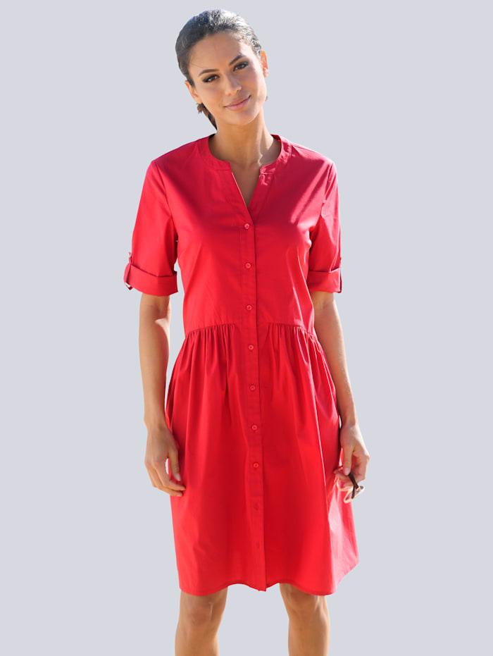 Alba Moda Strandkleid aus sommerlichem Popeline, Rot