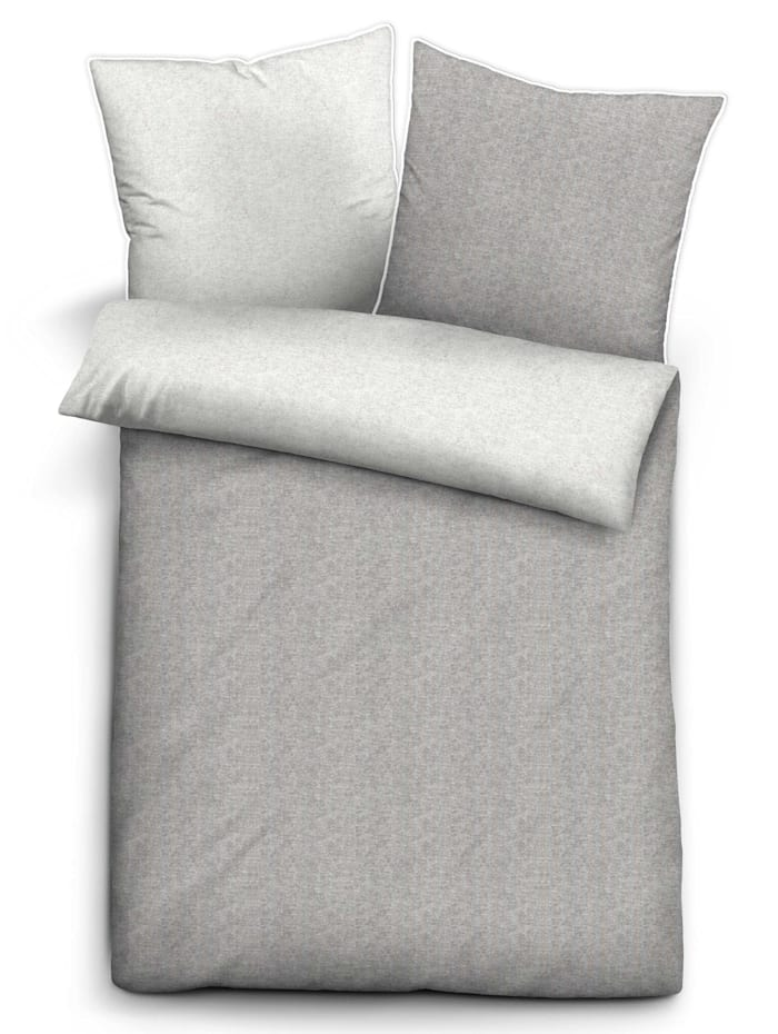 Biberna 2-delige set keerbaar bedlinnen 'Aylin', grijs
