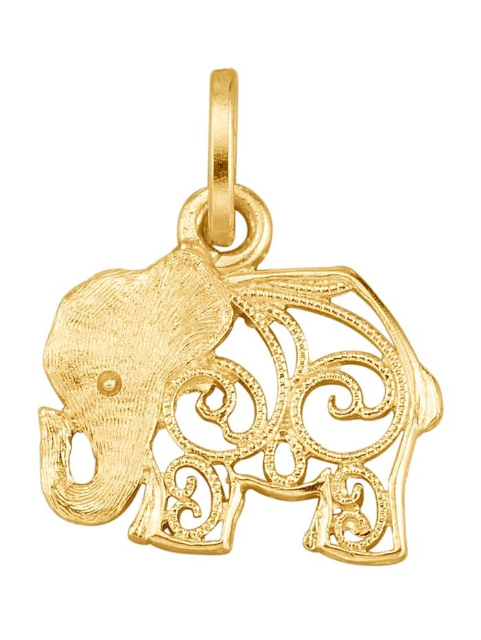 Pendentif éléphant, Jaune