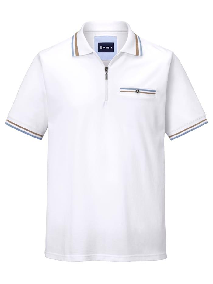 BABISTA Poloshirt mit Reißverschluss, Weiß