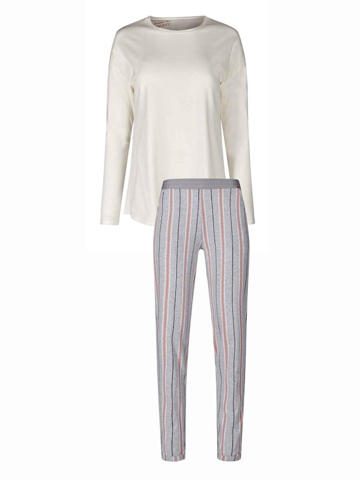 Skiny Pyjama, lang, ivory