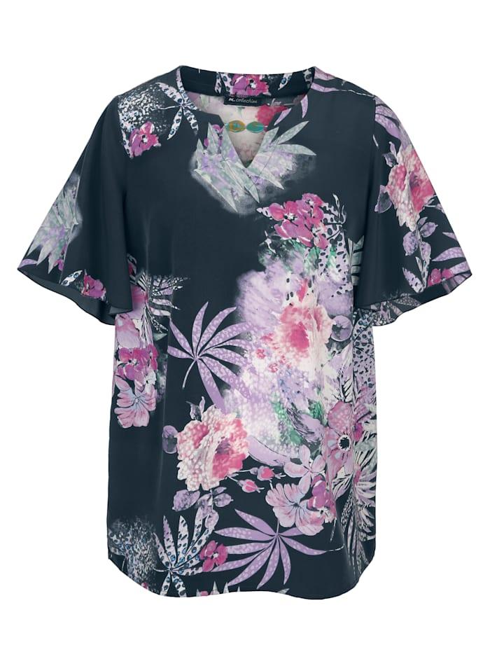 Bluse mit schönem Floralmuster rundum