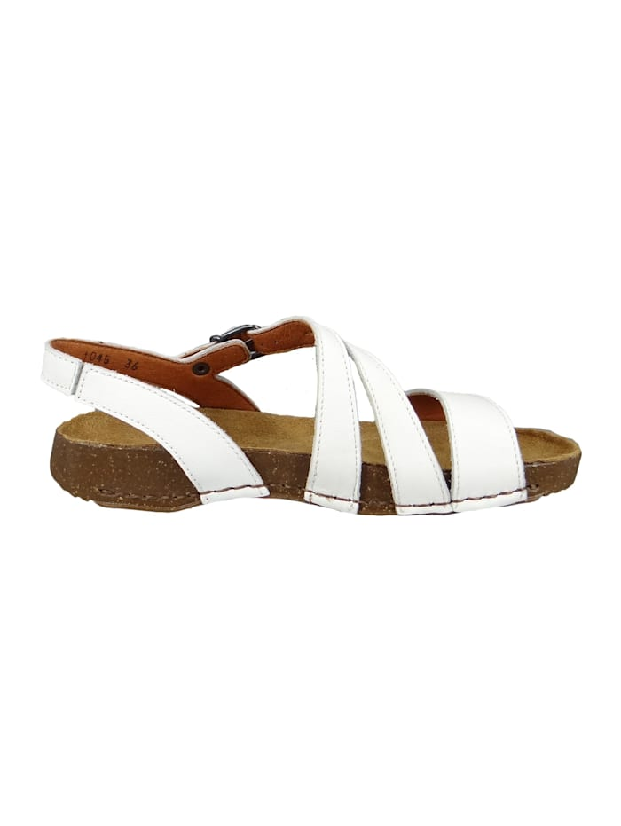 *art 1045 I Breathe Damen Leder Sandale White Weiß, White