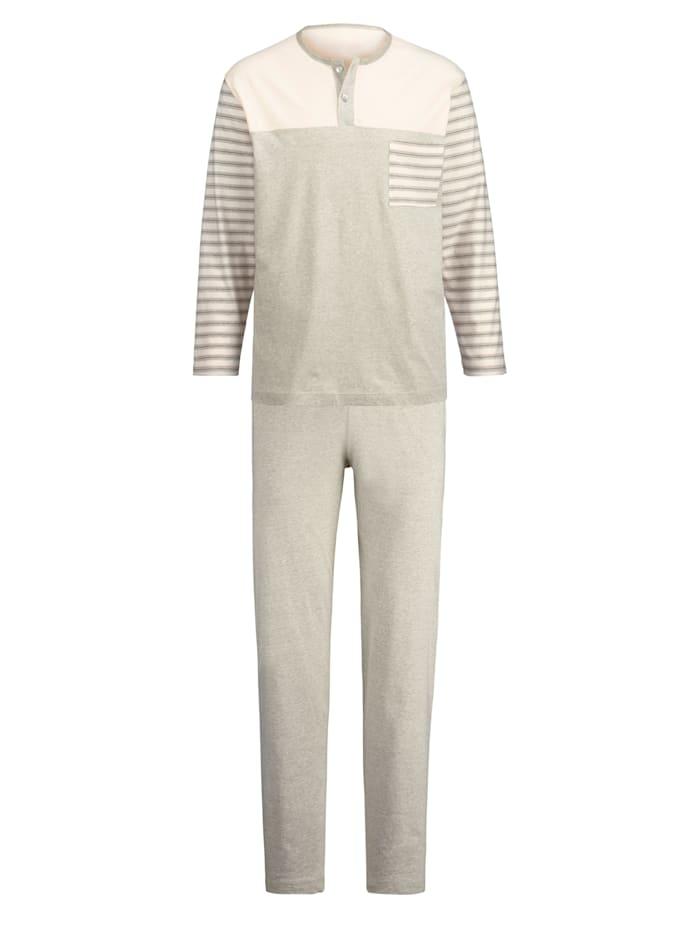 Pyjama en coton naturellement teinté, Écru