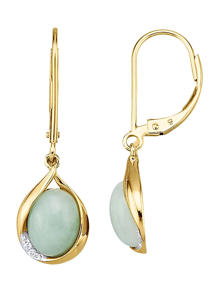 Ohrringe mit Jade-Cabochons