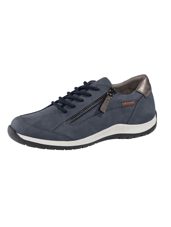 Liva Loop Sneakers avec glissière côté au cou-de-pied, Bleu