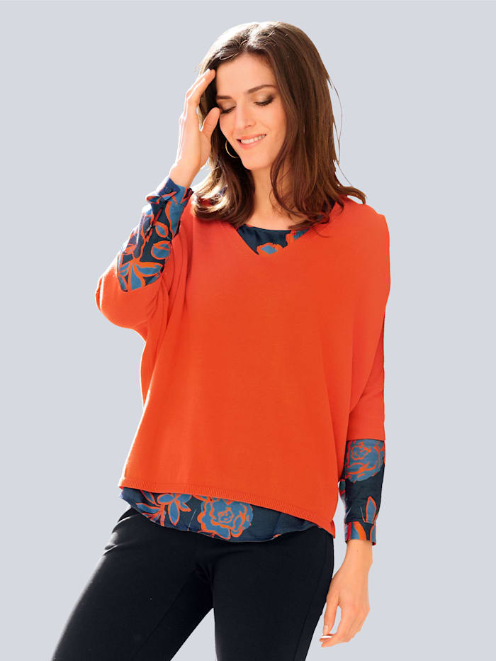 Alba Moda Pullover in lässiger Oversized-Form, Orange
