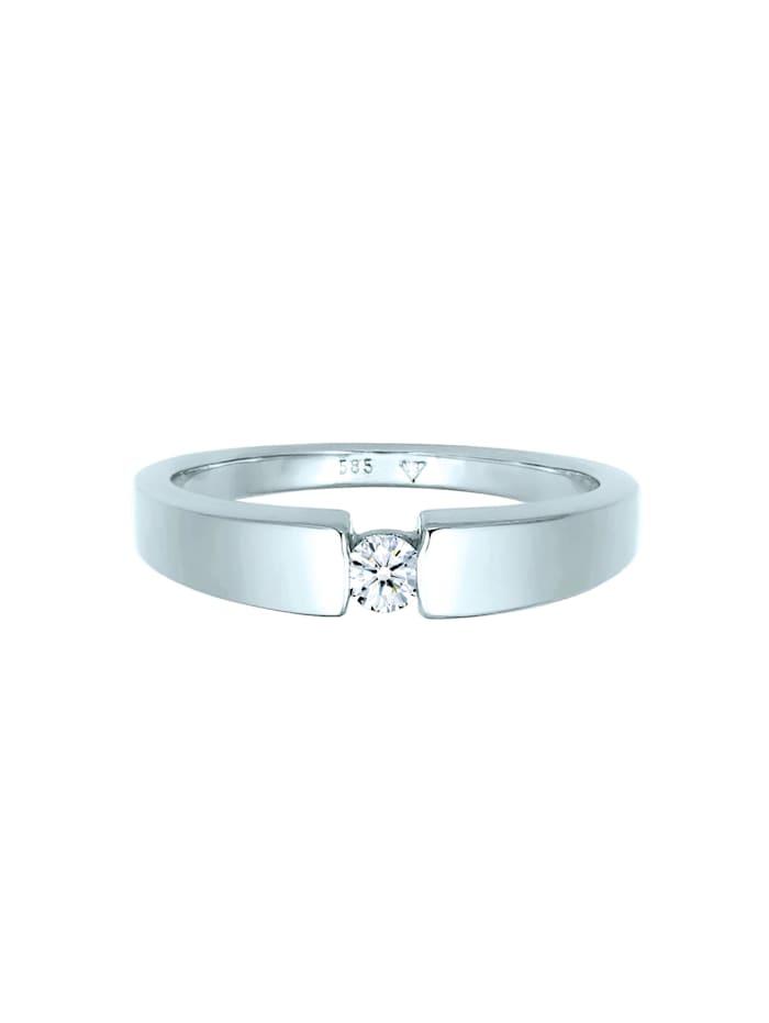 Ring Verlobungsring Diamant (0.11 Ct.) 585 Weißgold