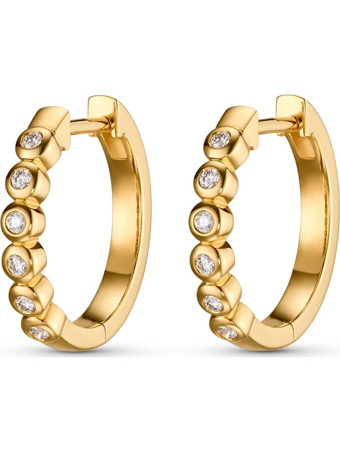 CHRIST C-Collection CHRIST Damen-Creolen 12 Diamant, gelbgold