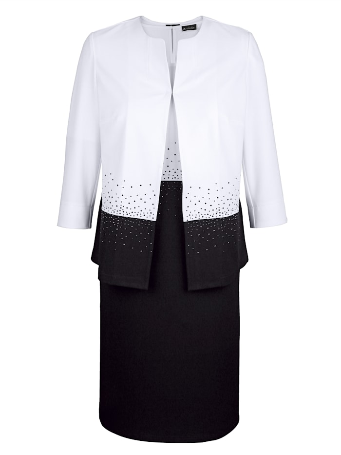 Set: blazer en jurk met fonkelende steentjes