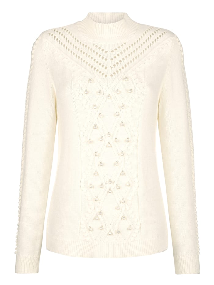 Jumper with faux pearl embellishment
