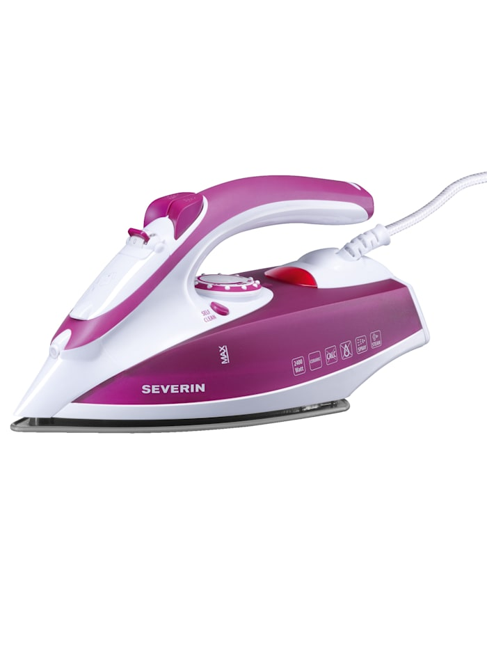 Severin Dampfbügeleisen BA 3243, Weiß-Violet
