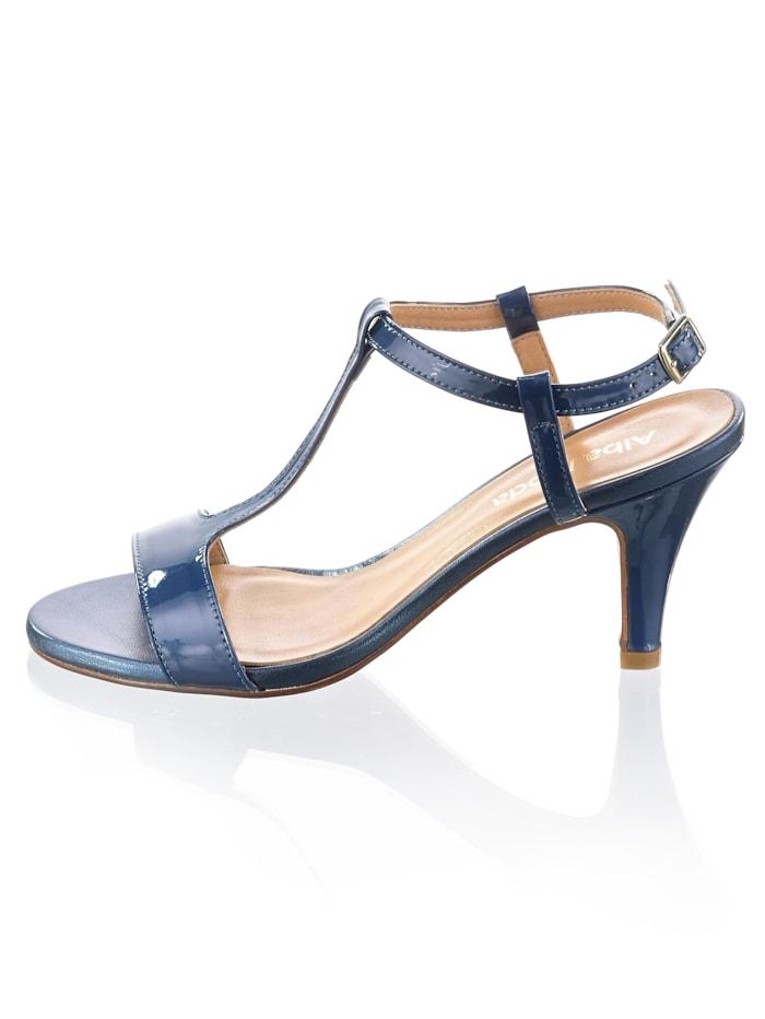 Sandalette aus Rindslackleder