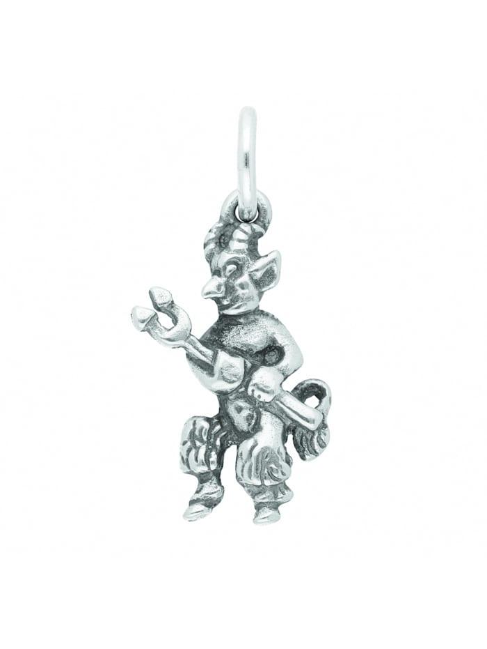 1001 Diamonds Damen Silberschmuck 925 Silber Anhänger Teufel, silber