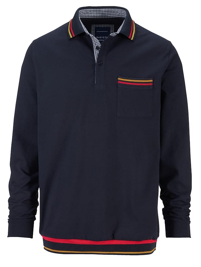 BABISTA Poloshirt met gekleurde contraststrepen, Marine