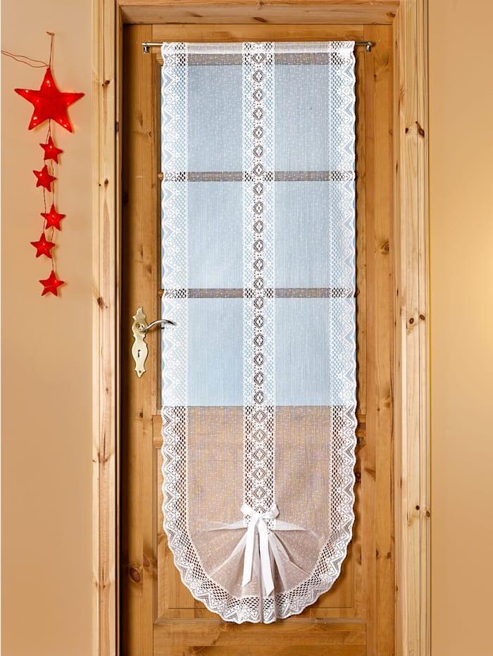 Jaquard-gardinkappe med satengbånd