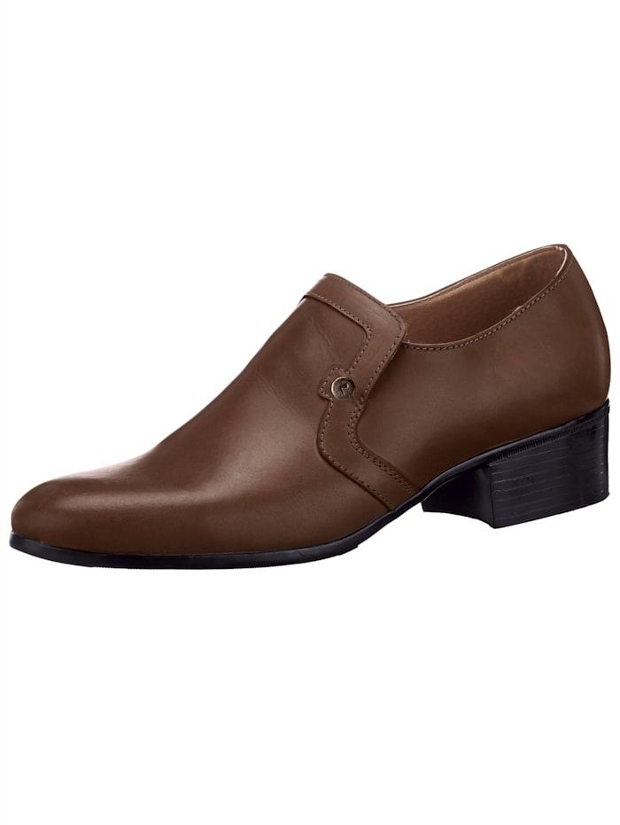 Slipper in eleganter Form, Braun