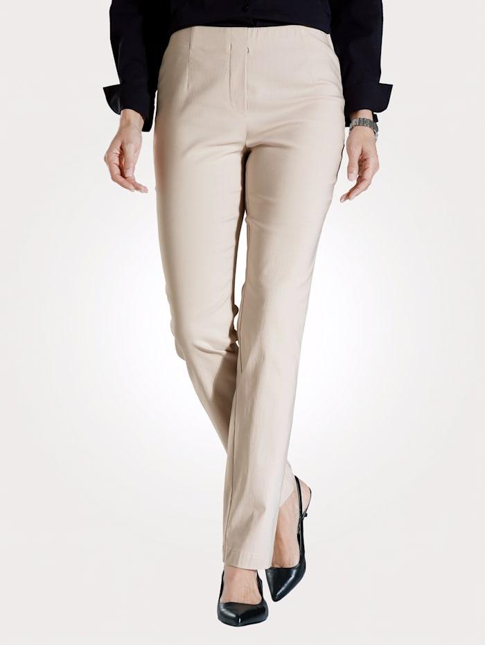 MONA Pantalon en matière extensible, Sable