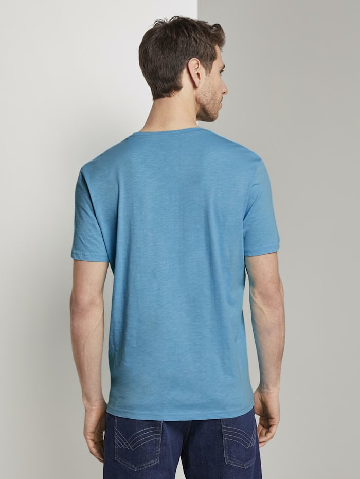 T-Shirt mit gemusterter Brusttasche