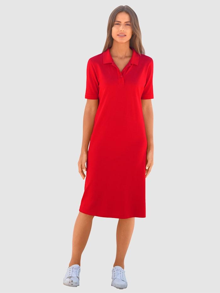 basically you Kleid in schöner Pique Ware, Rot