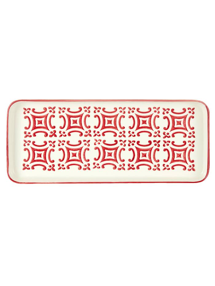 Vista Portuguese Schale zum Servieren, rot/weiß