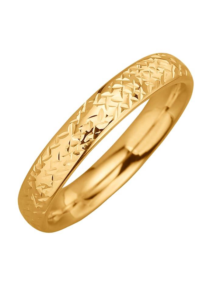 Damenring in Gold, Gelb