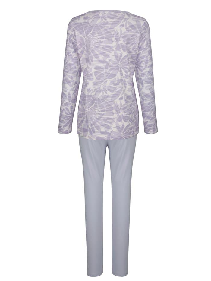 Pyjamas à imprimé fleuri