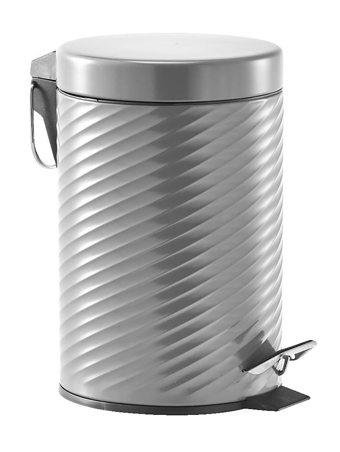 Zeller Poubelle à pédale, 3 litres, métal anthracite, Anthracite