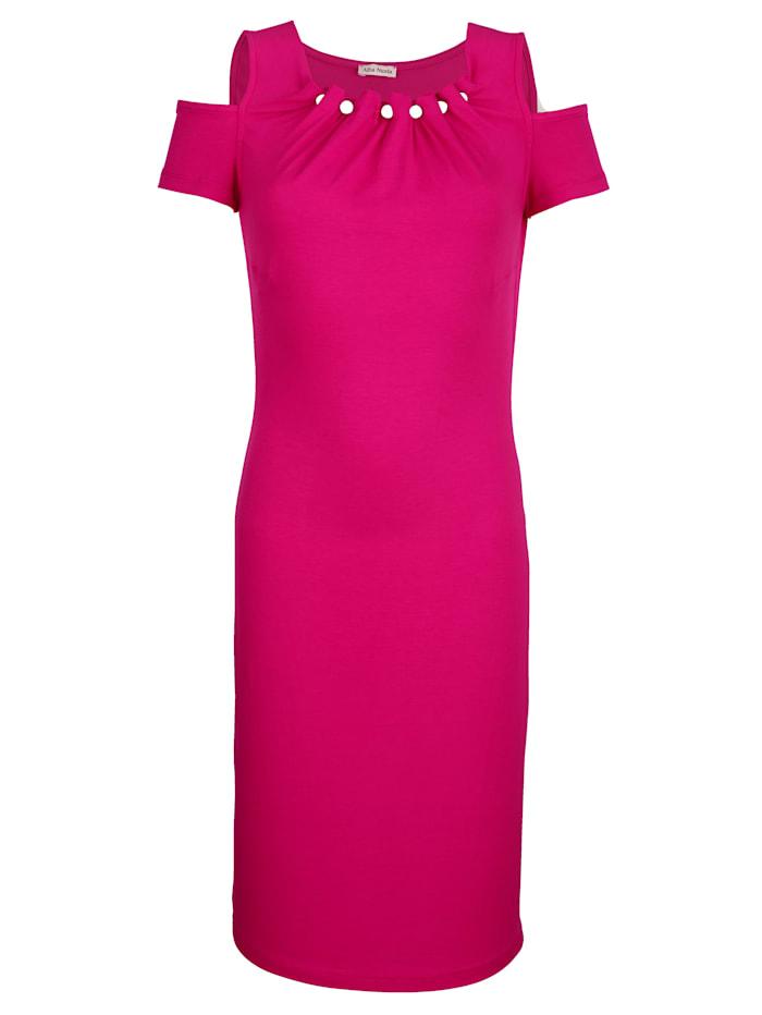 Alba Moda Strandkleid mit glitzernden Zierkugeln, Pink