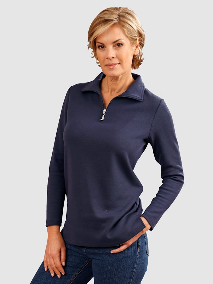 Dress In Sweatshirt mit Reißverschluss, Marineblau